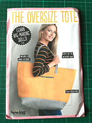 £5.95 • Buy Oversize Tote Bag Sewing Pattern NEW & UNCUT - Zipped Pocket & Boxed Base