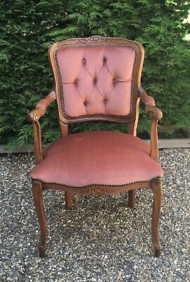 £55 • Buy French Louis Style Button Back Elbow Carver Chair.