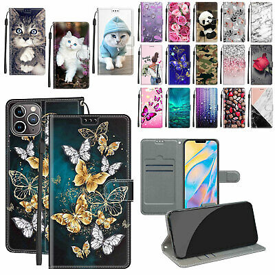$ CDN6.27 • Buy For Samsung Galaxy S7 S8 S9 S10 S20 S21+ Pattern Leather Wallet Flip Case Cover