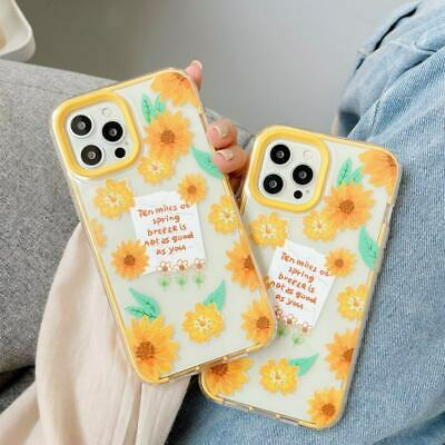 AU7.91 • Buy 3 In 1 Yellow Flower TPU+PC Phone Cover Case For IPhone 7 8 11 12 Pro Max XS XR