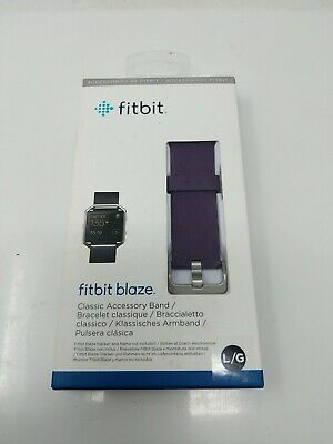 $ CDN11.10 • Buy FitBit Blaze Classic Accessory Band | Purple | NEW & FACTORY SEALED