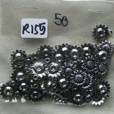 £0.99 • Buy 50 Mixed Plastic Silver Sunflowers  - 1.5 Cm -- Approx R155