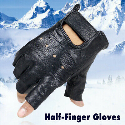 AU11.80 • Buy Tactical Fingerless PU Leather Half Finger Gloves Army Military Driving Fitness
