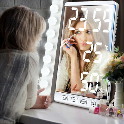 £28.77 • Buy 6 Inch LED Mirror Display Alarm Touch Button Heat Cool Wall Digital Table Clock