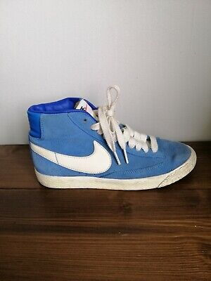 £12.99 • Buy Nike Blazers Womens Blue/White Suede Trainers Size 4 .  EXCELLENT CONDITION