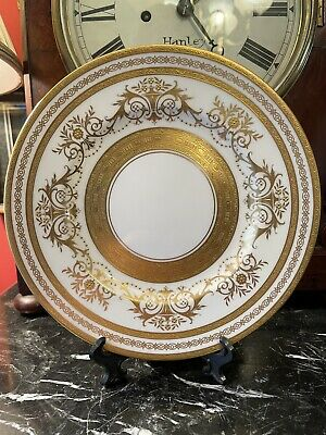 £50 • Buy Rare & Exceptional Minton Gold Decorated Cabinet Plate - Harrods Ltd London