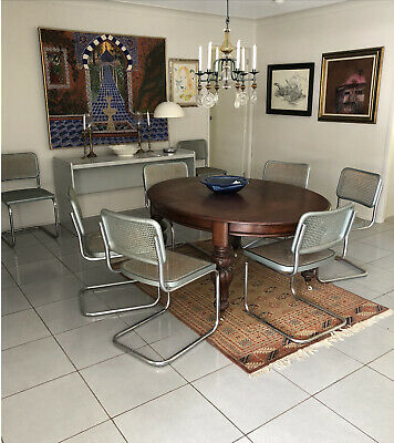 AU1199 • Buy Marcel Breuer Cesca Dining Chairs, Timber, Chrome, Rattan; Sold As Set Of 8