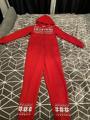 £2.50 • Buy Lovely H&M Unisex Kids Red Onsie(not Made By Gerber) Age 8-10