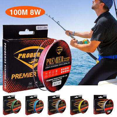 AU16.69 • Buy 100M PE Fishing Line Strong 8 Strands Braided Fish Line Wire 1.0-13.0# 15-120LB