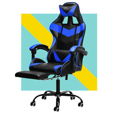 £64.99 • Buy Executive Racing Gaming Computer Office Chair Swivel Recliner Leather Footrest