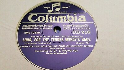 £2.99 • Buy Choir Of The Festival Of English Church Music Lord For Thy Tender Columbia Db216