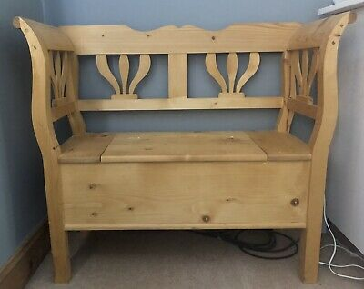 £220 • Buy Pine Settle Bench / Hall Bench  / Hall Seat