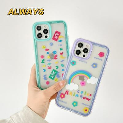 AU7.91 • Buy For IPhone 7 8 11 12 Pro Max XS XR 3 In 1 Rainbow Flower TPU+PC Phone Cover Case