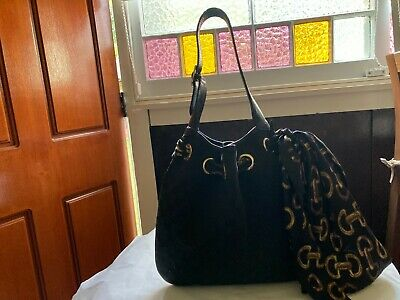 AU89 • Buy Ladies Gucci Black Canvas And Leather Hand Bag, Used