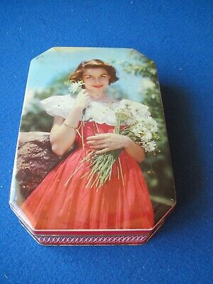 £8.95 • Buy Jacob's Biscuit Tin - Pretty Lady With Flowers   - 1960's