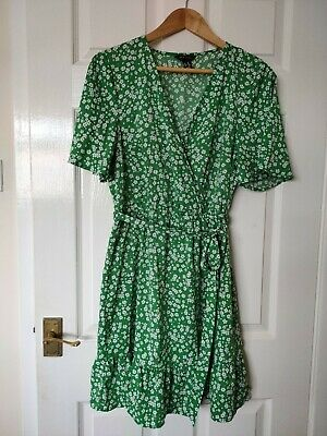 AU27.02 • Buy New Look Green And White Ditsy Dress Size 14