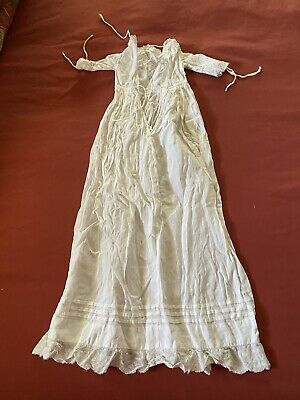 £10 • Buy Antique Victorian / Edwardian Baby  Christening Gown