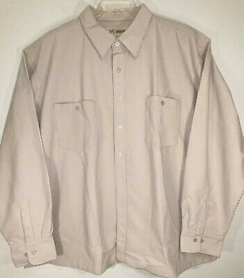 $9.99 • Buy Nwot Haband Off White 100% Polyester Corduroy L/s Button Front Shirt - Sz 3xl
