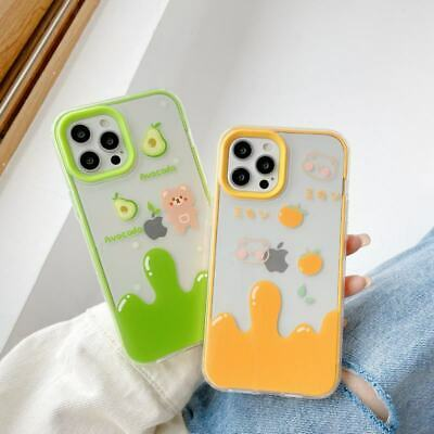 AU7.91 • Buy For IPhone 7 8+ 11 12 Pro Max XS XR 3 In 1 Fruit TPU+PC Clear Phone Cover Case