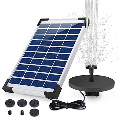 £24.92 • Buy AISITIN Solar Water Fountain 5.5W Backup Solar Floating Fountain Pump, 6 For