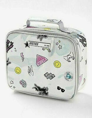 AU20.31 • Buy Justice Holo Sticker Unicorn Lunch Tote Box Bag Matches Backpack & Water Bottle
