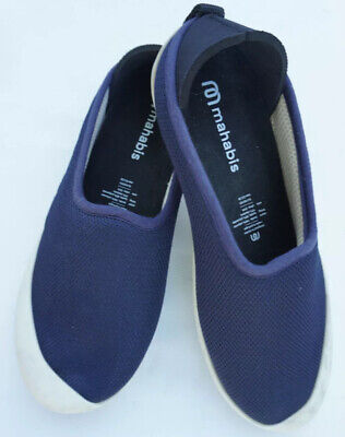 $17 • Buy Mahabis Summer Womens Slippers/Shoes EU 39 9 US Removable Sole Navy Blue Mesh