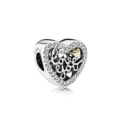 AU20 • Buy Pandora Heart Charm With Gold Accent