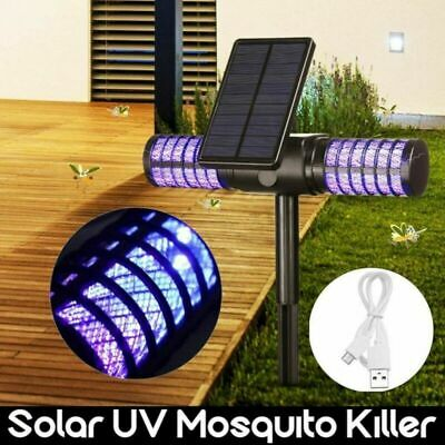 £23.99 • Buy Solar Powered Outdoor Mosquito Fly Bug Insect Zapper Killer Trap Lamp LED Lights