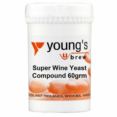£6.90 • Buy Youngs Brew Home Brewing Super Wine Yeast Compound For High Alcohol 60g