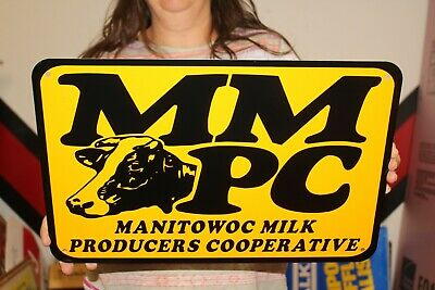 $12.71 • Buy Vintage Manitowac Milk Producers Dairy Cow Farm Feed Seed 17  Metal Sign