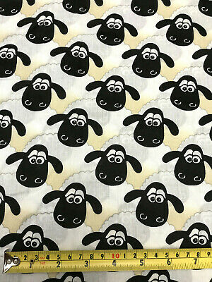 £4 • Buy Vintage SHAUN THE SHEEP Fabric Remnant 21 /53cm X 22 /56cm Wallace & Gromit