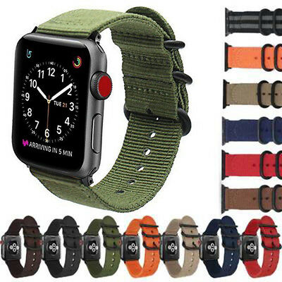 $7.98 • Buy Replacement Nylon Durable Military-Style Buckle Band For Apple Watch SE 6 5 4321