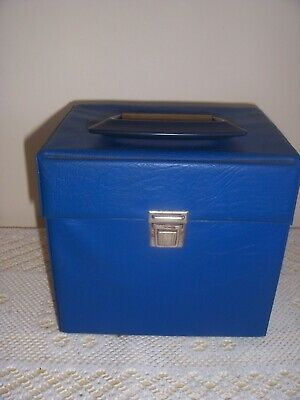 £8.50 • Buy Vintage  Record Singles 7  45s Storage Case Box Holds 50 Blue 1970s 99p No Res