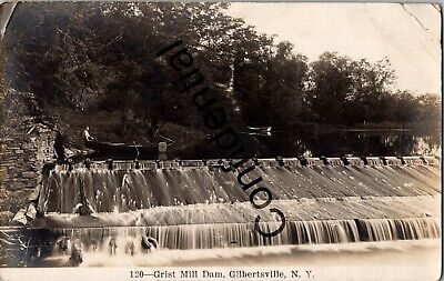 $34.99 • Buy Real Photo Grist Mill Dam At Gilbertsville Otsego County New York RP RPPC C282