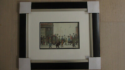 £10 • Buy L.S Lowry 'waiting For The Shops To Open' Framed Print - Very Good Condition