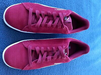 AU40 • Buy Puma Suede Shoes Size 7.5 US. Red With White Trim