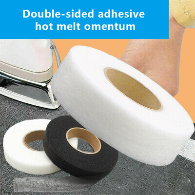£2.12 • Buy Clothes Interlining Iron On Double-sided Adhesive Fabric Hem Tape Sewing Roll