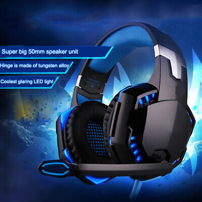 AU24.99 • Buy 3.5mm Gaming Headset MIC LED Headphones Surround For Mac Laptop PS4 Xbox One PC