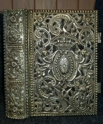 £995 • Buy Book Of Common Prayer / Ornate Silver Cover / Red Letters / 2 Working Clasps!!!
