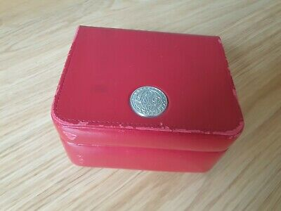 £11.50 • Buy Omega Watch Box - Genuine Red And Silver - Great Condition Seamaster Speedmaster