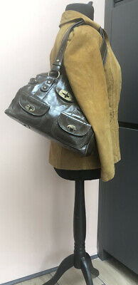 £15 • Buy Khaki Patent Leather Russell & Bromley Bag