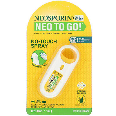 £8.32 • Buy + Pain Relief, Neo To Go!, First Aid Antiseptic/Pain Relieving Spray, 0.26 Fl Oz