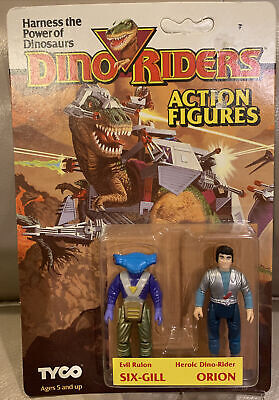 £32.41 • Buy Vintage Dino-riders Figures 2-pack Six-gill And Orion 1987 Noc Sealed Tyco