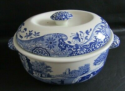 £50 • Buy Spode Blue Italian Oval Lidded Casserole, Vegetable Dish In Unused Condition