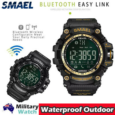 AU11.98 • Buy SMAEL Tracker Sport Wristwatches Bluetooth Smart Watches For IOS Android Phones