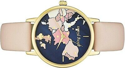 $ CDN92.38 • Buy Kate Spade  New York Metro Map Watch With Vachetta Nude Leather Band  Ksw9039
