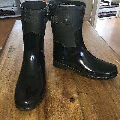 £9.99 • Buy Hunter Refined Short Gloss Boots Size 6