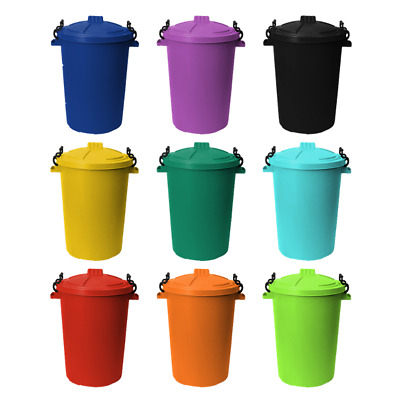 £22.08 • Buy 85L PLASTIC DUSTBI Colour  Garden/HOME/ OUTDOOR / FEED /Bin WITH  Locking Lid