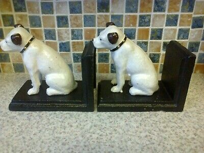 £34.99 • Buy Cast Iron Bookends Terrier Dog Hmv Nipper The Dog