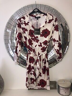 AU9.32 • Buy ASOS - New Cream And Red Shirt Dress By Parisian - Size 14 Look BNWT